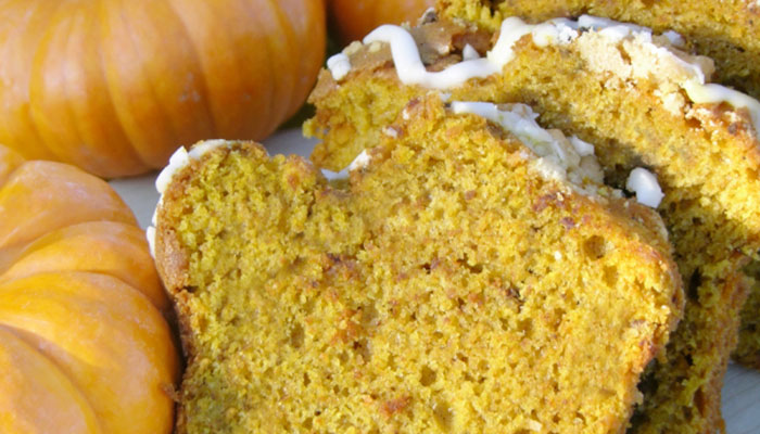 Pumpkin Pie Tea Bread