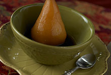 Spicy Chai Poached Pears