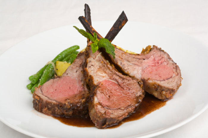 Lamb Chops with Plantation Mint® Gravy