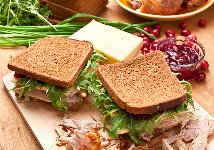 Turkey, Watercress and Cranberry Sandwiches