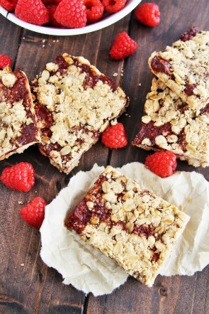 Raspberry Oat Crumb Bars