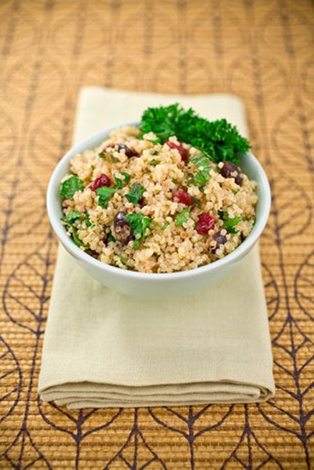 Pomegranate Quinoa Salad with Fruit and Nuts