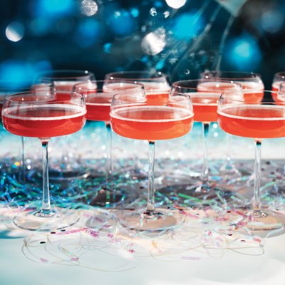 Pomegranate Pizzazz Champagne Punch