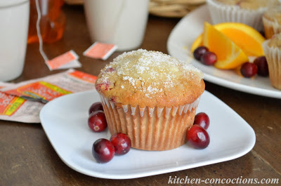 Spiced Cranberry Orange Muffins