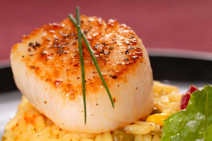 Seared Scallops in Lemon Broth