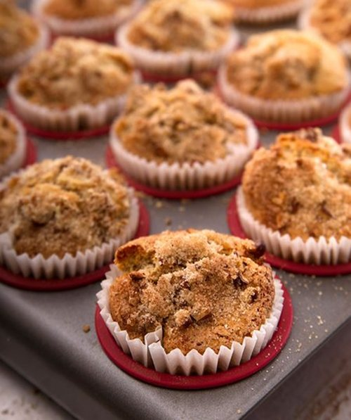 Caramel Apple Crunch Muffins